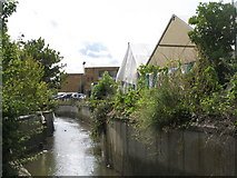 TQ3772 : The River Ravensbourne west of Bromley Road Retail Park, SE6 (5) by Mike Quinn