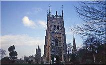 SP0343 : Trio of churches at Evesham by Trevor Rickard