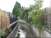 TQ3772 : The River Ravensbourne south of Allerford Road, SE6 by Mike Quinn
