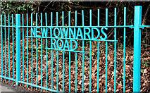 J3574 : Newtownards Road sign, Belfast by Albert Bridge