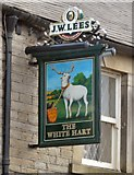 SJ9995 : Sign of the White Hart by Gerald England