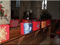 TF1205 : Kneelers in St Botolph's Church by Chris McAuley
