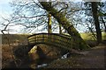 SJ6576 : Footbridge over Forge Brook by Galatas