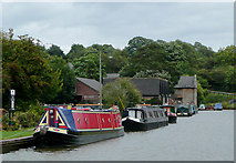 SO9969 : Moored narrowboats at Tardebigge, Worcestershire by Roger  Kidd