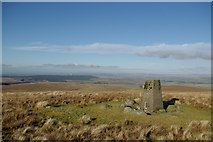 NS5606 : Enoch Hill trig point by Leslie Barrie