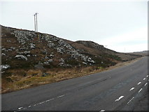 NG8378 : Electricity poles on Meall Bhadan an Aisc by Russel Wills