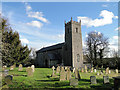 TG0436 : Thornage All Saints' church and graveyard by Adrian S Pye