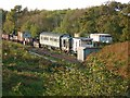 SY9583 : Siding on the Swanage Railway at Norden by Stefan Czapski