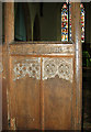 TG2439 : St Mary's church in Northrepps - C15 rood screen (detail) by Evelyn Simak