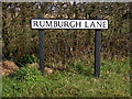 TM3682 : Rumburgh Lane Sign by Geographer