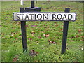 TM4382 : Station Road Sign by Adrian Cable