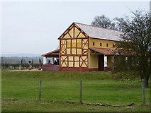 SJ5608 : Gable end of the replica villa by Richard Law