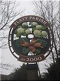 TQ6256 : Close-up of Platt Parish Village Sign by David Anstiss