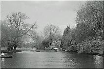 SP2055 : River Avon above Stratford, 1965 by Robin Webster