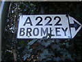 TQ4368 : Pre-Worboys direction sign, Chislehurst by David Howard