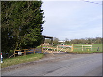 TM3667 : The gated entrance to Corner Farm, Sibton by Adrian Cable
