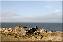 NT4884 : The ruins of Red House at Jamie's Neuk by Walter Baxter