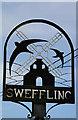 TM3463 : Sweffling village sign by Adrian S Pye