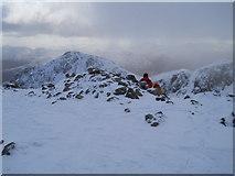 NN1454 : Summit of Stob Coire nan Lochan by David Brown
