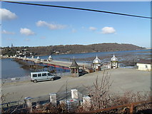 SH5873 : View of the pier from Garth Gardens, Bangor by Meirion