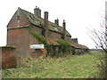 TG1403 : The ruined house at Planet Farm, Hethersett by Evelyn Simak