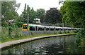SP0585 : Canal  and railway near Edgbaston, Birmingham by Roger  Kidd