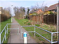 TM3863 : Footpath to St.Peter's Church by Adrian Cable