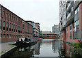 SP0686 : Worcester and Birmingham Canal approaching Gas Street Basin by Roger  Kidd