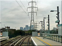 TQ4080 : In Royal Victoria DLR station by Robin Webster