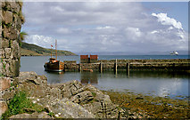 NM4099 : Old pier near Kinloch on the  Isle of Rum by Roger  Kidd