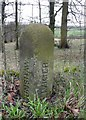 SD8631 : Boundary stone, Red Lees Road, Burnley by Humphrey Bolton