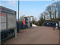 TQ2565 : Sutton Common station: entrance by Stephen Craven