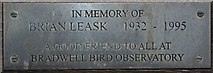 TM0308 : Brian's Plaque by Glyn Baker