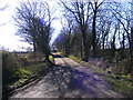 TM4072 : Footpath to Willow Marsh Lane & entrance to South Manor Farm by Adrian Cable