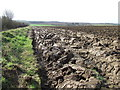 TL9749 : Ploughed Field by Keith Evans
