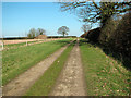 TG0926 : Public footpath south-east of Wood Dalling by Evelyn Simak