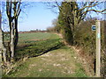 TM3971 : Footpath to Bunkers Hill Farm by Adrian Cable