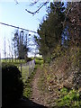 TM3968 : Footpath to Stickland Manor Hill & A12 Main Road by Adrian Cable