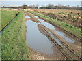 TF5114 : Puddles on March Lane by Richard Humphrey
