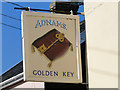 TM3958 : The Golden Key pub sign at Snape by Adrian S Pye