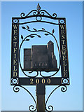 TQ8115 : Westfield village sign by Oast House Archive