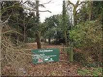 SU5985 : Sign on the gate by Bill Nicholls