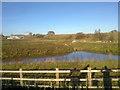 SD9112 : Artificial lake at Kingsway, Rochdale by Steven Haslington