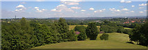 SD8304 : Oldham, the South Pennines and other parts of Greater Manchester from Heaton Park by Steven Haslington