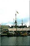 TQ2604 : Replica of 'Nonsuch' Shoreham Harbour 1969 by Gordon Spicer