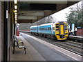 SJ7009 : Train at Telford Central Station  by M J Richardson
