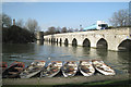 SP2054 : Clopton Bridge with rowing boats by Robin Stott