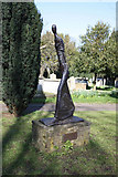 TQ2475 : All Saints, Fulham High Street - Churchyard sculpture by John Salmon