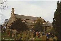 NZ3231 : Churchyard at Bishop Middleham Church by peter robinson