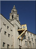 SE2934 : Detail of tower and clock at Leeds Civic Hall by Richard Hoare